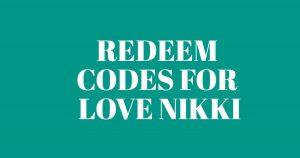 love nikki codes